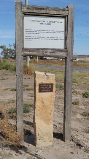 Campsite of Sibley Survey Team - September 9, 1825