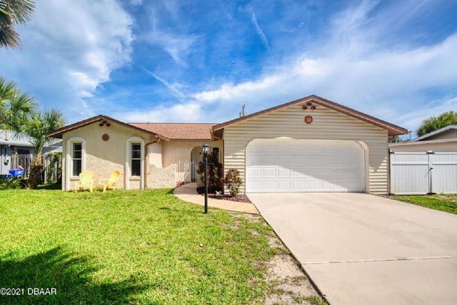 This adorable two-bedroom, one-and-a-half bath home that is just steps from the ocean in Ormond Beach.