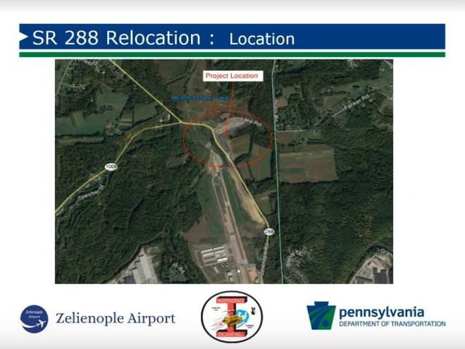 The project to relocate a portion of State Route 288 adjacent to the Zelienople Municipal Airport will begin July 19, leading to detours.