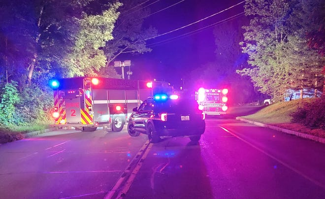 Rollinsford police and fire personnel, along with York Ambulance, responded to a fatal accident late Monday, July 12, 2021. A person trying to help a cat in the road was struck by another vehicle and died, according to police.