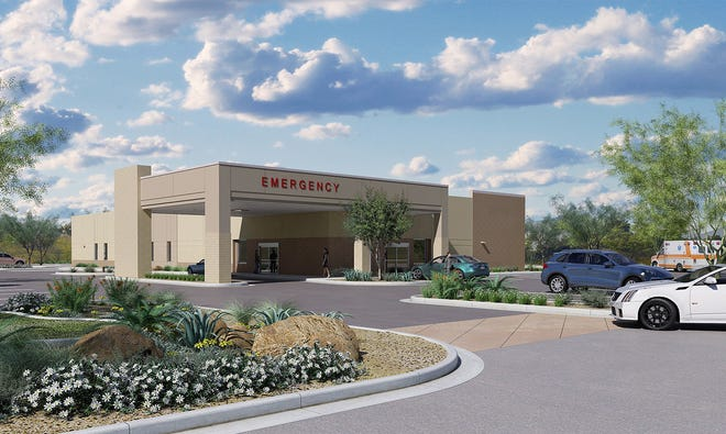 This is a rendering of a $14.4 million freestanding emergency center Orange Park Medical Center's plans to open in Middleburg in late 2022.