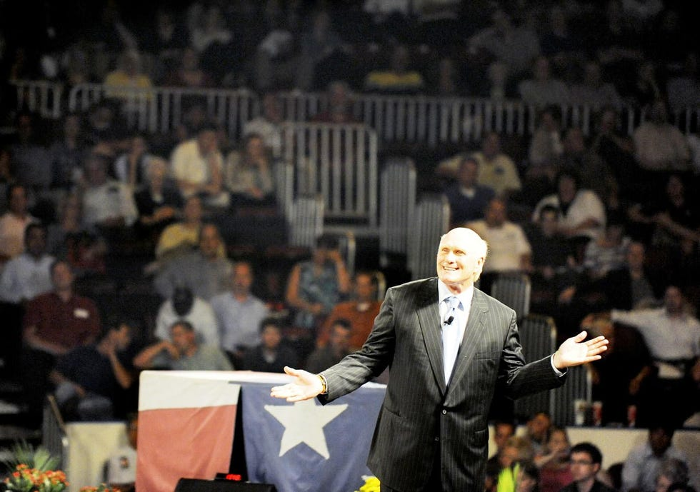 Former NFL quarterback and current TV personality Terry Bradshaw in 2010, when he appeared at the Get Motivated Business Seminar at the Peoria Civic Center.