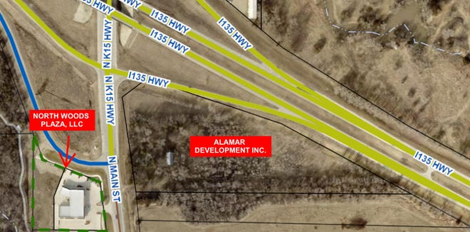 Alan Vogts, owner of North Woods Plaza, announced this week an agreement to create a new commercial development in North Newton at the intersection of I-135 and K-15.