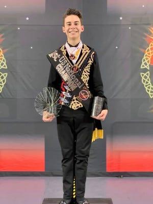 AJ Brainerd, an incoming junior at Choctawhatchee High School, won first place at the U.S. National Irish Dance Championships 2021 in Phoenix, Arizona.