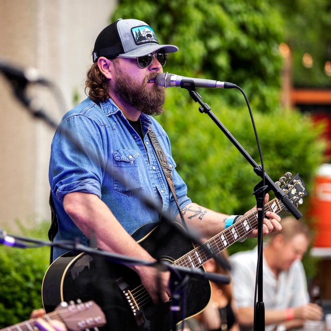 Chad Sullins performs outside the Stonewall Tavern in Stillwater as part of the 2019 Bob Childers' Gypsy Cafe songwriters festival, the flagship fundraising event for the nonprofit Red Dirt Relief Fund. Sullins died June 27 at the age of 43.