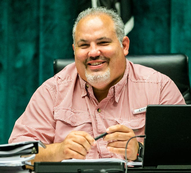 Marion County Commissioner Carl Zalak III, who had a laugh in July at a budget workshop, announced Tuesday that he has contracted COVID-19. [Doug Engle/Ocala Star Banner]2021