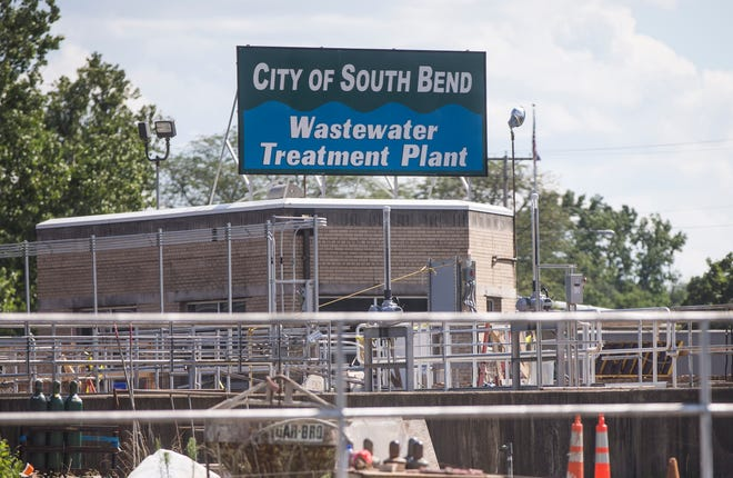 The South Bend Wastewater Treatment Plant. The city's common council Monday approved a compromise deal with the Mayor James Mueller administration that will maintain planned system upgrades and rate hikes while delaying them a year and using about $3 million from sources other than rates. Tribune Photo/ROBERT FRANKLIN