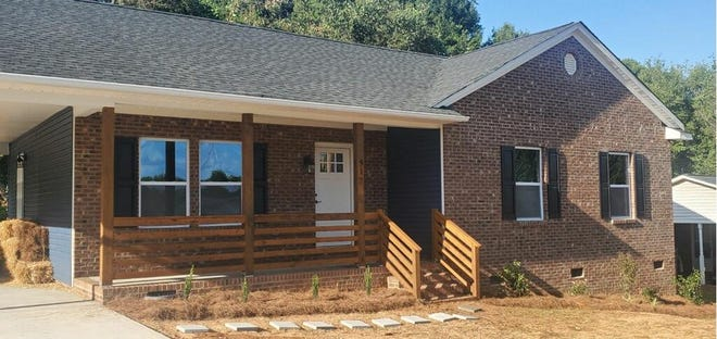 This newly constructed home was recently completed  on Langston Drive.