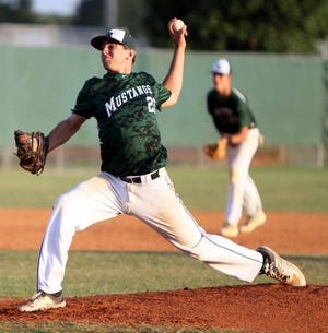 Colton Zimring, now Colton Gordon, pitches for Lakewood Ranch High against Palmetto High in Class 8A-District 8 district semifinal Tuesday, April 19, 2016, at the Mustangs field.