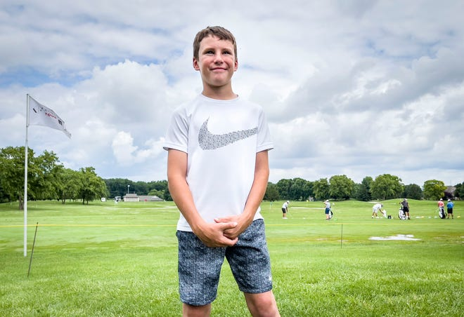 Colin Thoroman, 9, will tee it up with the pros as he participates in the LRS Official Tournament Pro-Am as a part of the Memorial Health Championship presented by LRS Korn Ferry Tour stop at Panther Creek Country Club.