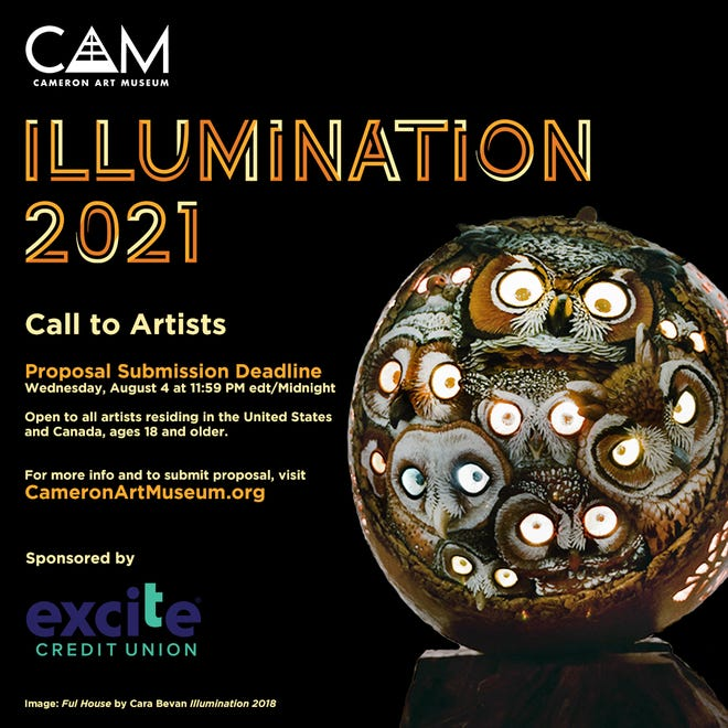 Cameron Art Museum announces call for artist proposals for Illumination.
