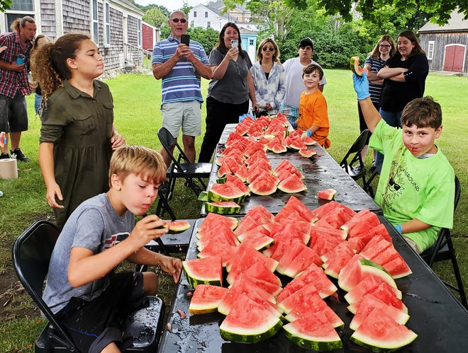The Middleborough Park Department hosted its annual 4th of July Greasy Pole and Watermelon Eating contests on the 4th of July. This year's holiday marked the return of the fireworks, carnival and 4th of July activities at the Peirce Playground after a year off due to Covid-19 safety precautions.
