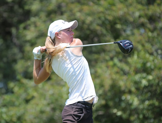 After a scorching 36-hole performance on Monday, Rachel Stous didn't let up and easily cruised to her first Kansas Women's Amateur Championship on Tuesday at Flint Hills National Golf Club. Stous finished at 9 under for the tournament and won by 10 shots.