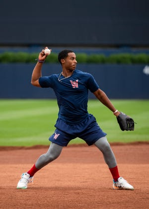 WooSox infielder Jeter Downs is back in town after playing in Sunday's Futures Game.