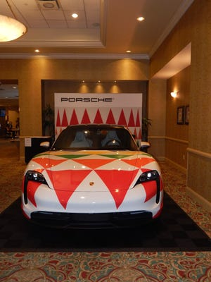 The Porsche Club of America's national Porsche Parade for 2021 was held at the French Lick Resort earlier this month. Some of the new Porsche models were displayed on the second floor of the hotel.
