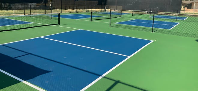 The new pickleball courts at the Pueblo Country Club. Pickleball is one of the nation's fastest growing sports and now Pueblo has six designated courts players may utilize.