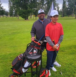 """Derek and Giavanni """"Gee"""" Still on a golf outing."""