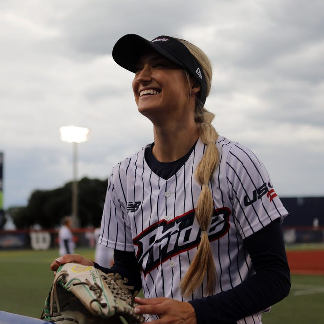 USSSA Pride player Haley Cruse has over a million followers on various social media platforms. She was an All-American at Oregon.