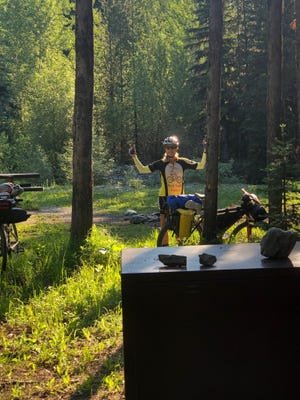 Leah Davis Lokan at the Tuchuck campground in the northern Rockies of Montana in June 2021.