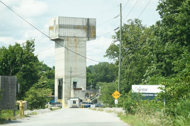 Nyrstar's Immel Mine is seen in Mascot-Strawberry Plains area, Tuesday, July 13, 2021. One man was killed and two others were injured an accident at the zinc mine, authorities said.