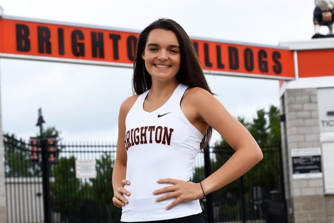 Katie Carothers of Brighton was all-state in cross country and qualified for the state meet in two events on the track.