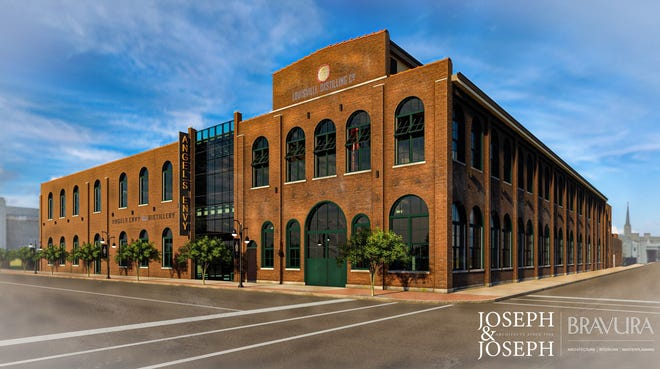 An exterior rendering of the Angel's Envy distillery in downtown Louisville after construction will be completed. Provided in July 2021