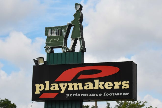 The Playmakers sign  in Meridian Township, pictured Tuesday, July 13, 2021.