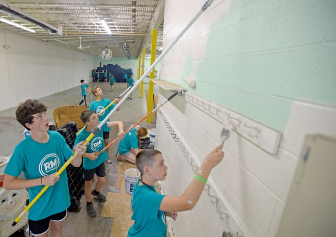 About 160 teens will help paint the interior of the former Toy Time building, now housing the Richland Outreach Center.