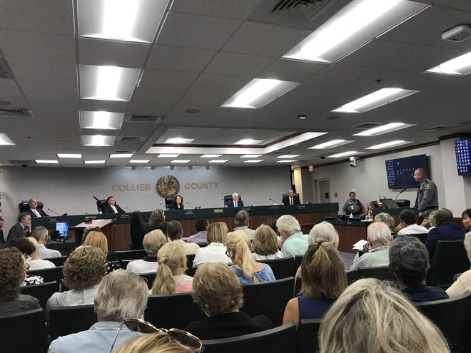 Collier County Undersheriff Jim Bloom speaks to the Collier County Board of County Commissioners during public comments related to an ordinance to establish Collier County as a Bill of Rights Sanctuary County on July 13, 2021.
