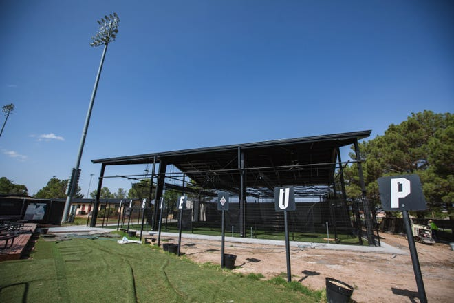 A new complex is shown under construction at Presley Askew Field on NMSU campus in Las Cruces on Tuesday, July 13, 2021.