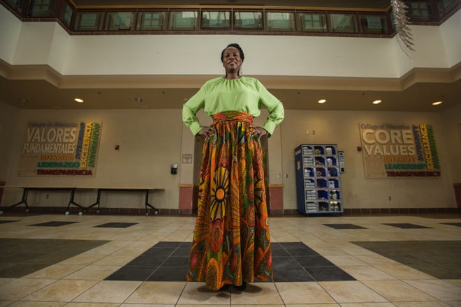 Henrietta Pichon, dean of the New Mexico State University College of Health, Education and Social Transformation, is the only tenured Black professor at the university. She is pictured at O'Donnell Hall on the NMSU campus in Las Cruces on Tuesday, July 13, 2021.