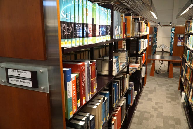 The Adult Reference section of the Farmington Community Library at 32737 W. Twelve Mile Road in Farmington Hills.