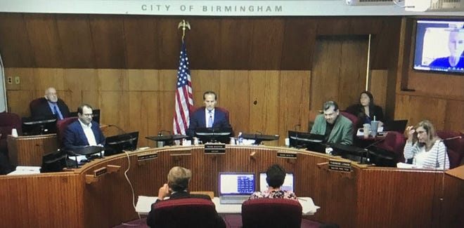 Birmingham Mayor Pierre Boutros was happy to see constituents in the audience during the City Commission's first hybrid meeting on Monday, July 12, 2021.