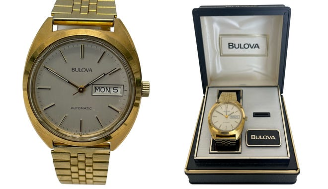 Clean looks and packaging were Bulova trademarks in the 1960s.