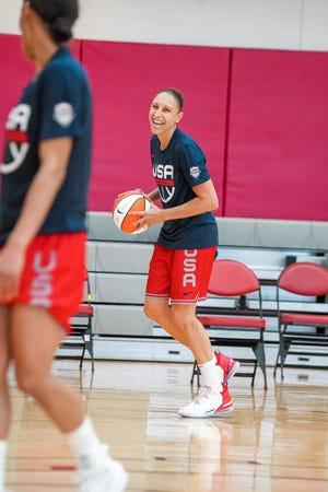 Phoenix Mercury guard Diana Taurasi at USA Basketball practice Tuesday in Las Vegas.