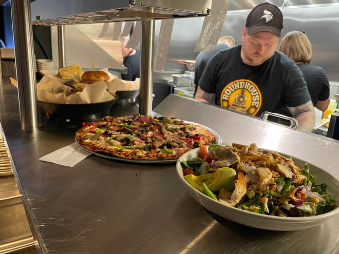 Roundhouse Brew Pub off of Cliff Avenue and 69th Street offers dozens of American dishes and beers on tap.