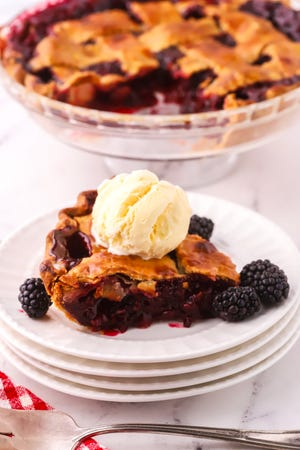 Whether you've picked the berries yourself or not, top blackberry pie with a lattice crust.