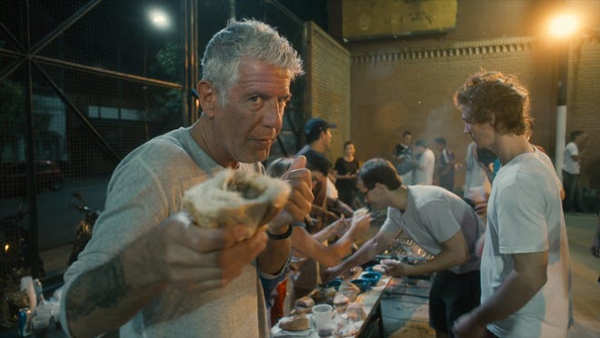 """Anthony Bourdain in a scene from the new documentary """"Roadrunner."""""""