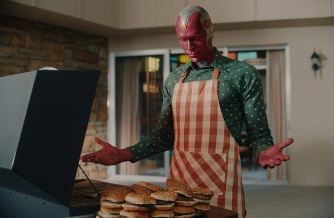 Paul Bettany as Vision in Disney+'s Marvel Series