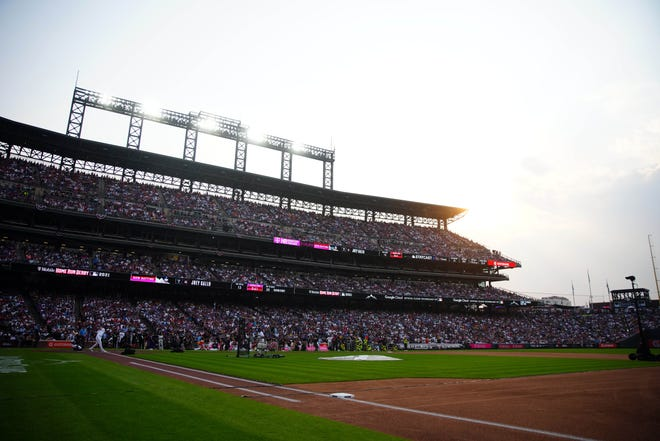 A view of Coors Field during the Home Run Derby.
