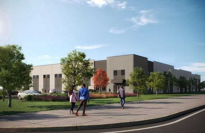 An artist's rendering shows Kval Inc.'s planned Hutto manufacturing facility.
