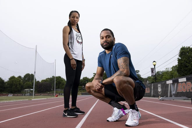 Siblings and former Georgia track and field athletes Kendell and Devon Williams.