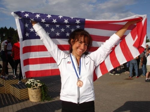 Lorraine Jasper, shown in 2017, captured three individual gold medals at last month's USATF's Mid-Atlantic Masters and Open Outdoor Championships.