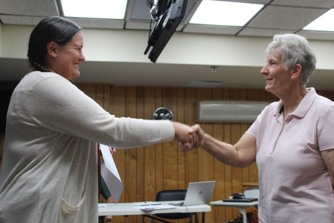 Diane Mills, the newest member of the Cheboygan City Council, was sworn into office after a special meeting of the council on Tuesday. At the meeting, candidates were interviewed to fill the council seat vacated by Ashley Brandt.