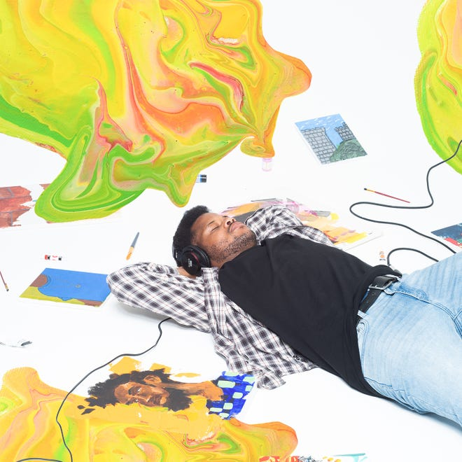 """Joey Aich in cover art for new single """"Paint (P.4.L.)"""""""