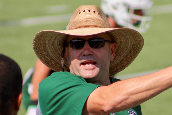 Tim Albin is in his first year as Ohio University's head football coach.