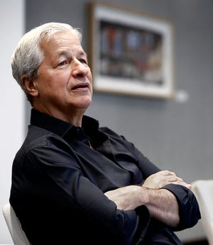 Jamie Dimon, CEO of JPMorgan Chase & Co., met with the Columbus Dispatch at The Joseph in the Short North on July 14.