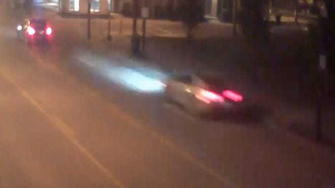 A photo taken from surveillance video shows the car that hit the girl.