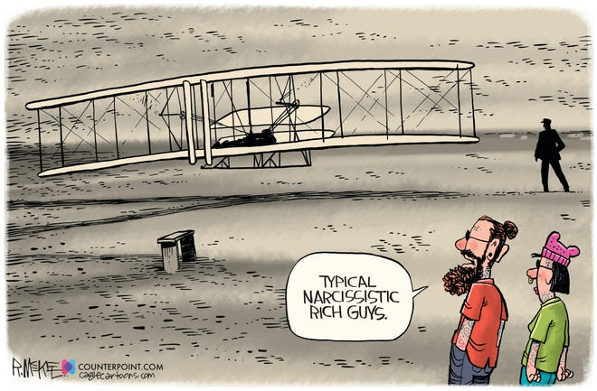 Spaced Out cartoon by Rick McKee, Counterpoint