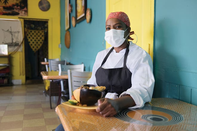 Riziki Yussuf at her Riziki Swahili Grill on Tamarack Circle.